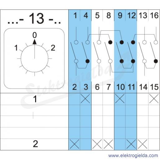 Schemat łączenia 4G10-13-U