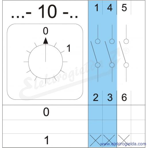 Schemat łączenia 4G10-10-PK