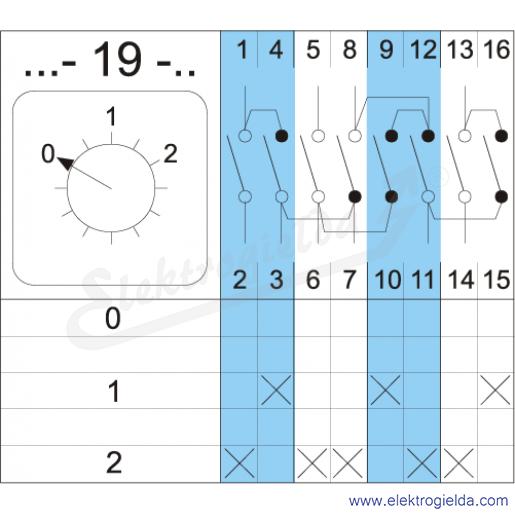 Schemat łączenia 4G10-19-PK