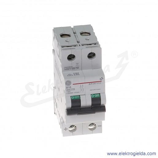 Wyłącznik nadprądowy EP102UCB10 2P AC/DC 10kA