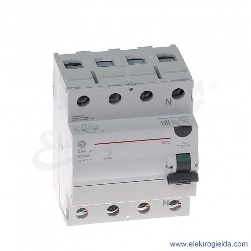 Wyłącznik różnicowoprądowy BPC425/030 4P 25A 0,03A typ AC