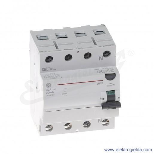 Wyłącznik różnicowoprądowy BPC440/030 4P 40A 0,03A typ AC