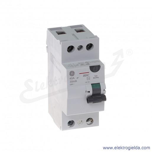 Wyłącznik różnicowoprądowy BDC240/030 2P 40A 0,03A typ AC