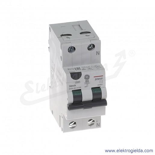 Wyłącznik różnicowo-nadprądowy DM60B06/030 2P 6A B 0,03A typ AC