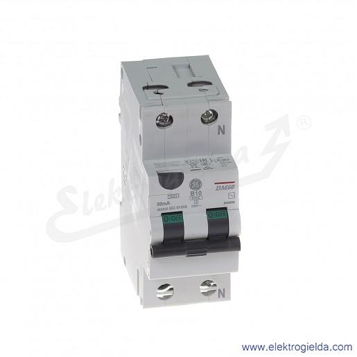 Wyłącznik różnicowo-nadprądowy DM60B10/030 2P 10A B 0,03A typ AC