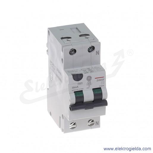 Wyłącznik różnicowo-nadprądowy DM60C06/030 2P 6A C 0,03A typ AC