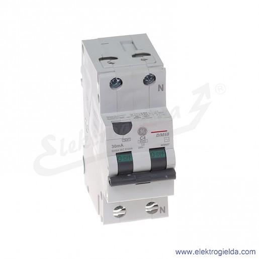 Wyłącznik różnicowo-nadprądowy DM60C04/030 2P 4A C 0,03A typ AC