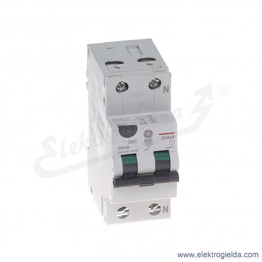 Wyłącznik różnicowo-nadprądowy DM60B20/030 2P 20A B 0,03A typ AC