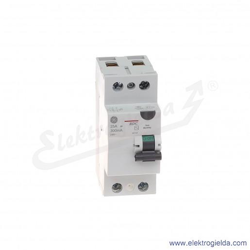 Wyłącznik różnicowoprądowy BDC225/300 2P 25A 0,3A typ AC