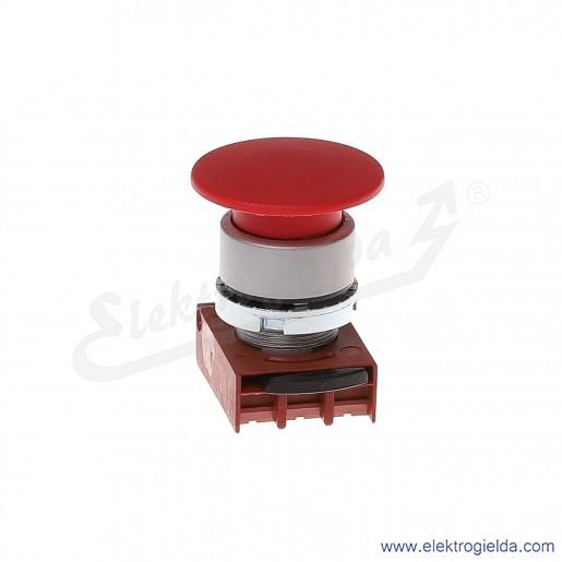 Napęd przycisku P9MEM4RN Dc grzybkowy czerwony 40mm z samo powrotem metalowy okrągły z ramką montażową