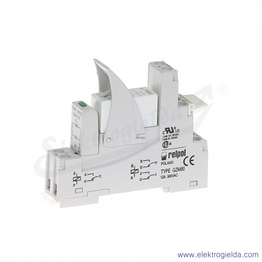 Przekaźnik interfejsowy PI84-012DC-00LD 2P 12VDC moduł LD zielony
