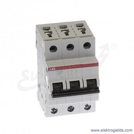 Wyłącznik nadprądowy SZ203-C63 3P C 63A AC 6kA