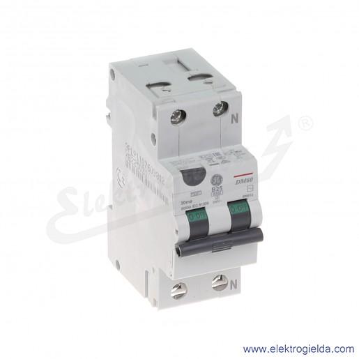 Wyłącznik różnicowo-nadprądowy DM60B25/030 2P 25A B 0,03A typ AC