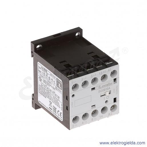 Stycznik BG0910A024 24VAC Ith 20A AC3/400V  4KW, 1NO