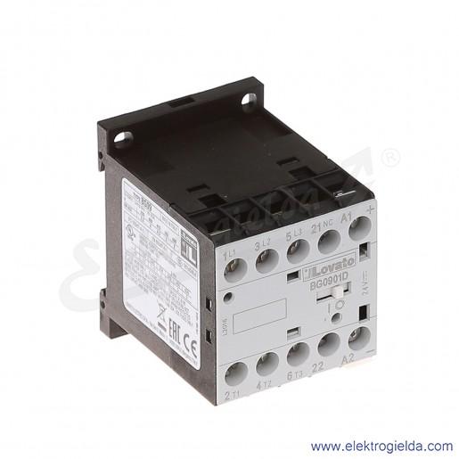 Stycznik BG0901D024 24VDC Ith 20A AC3/400V  4KW, 1NC