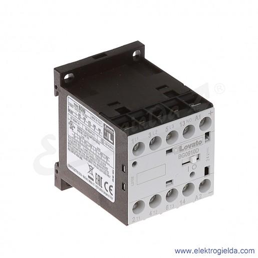 Stycznik BG0910D024 24VDC Ith 20A AC3/400V  4KW, 1NO