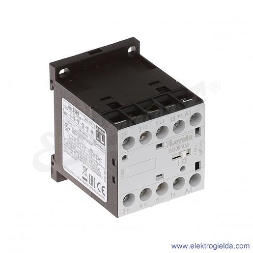 Stycznik BG0910A110 110VAC Ith 20A AC3/400V  4KW, 1NO
