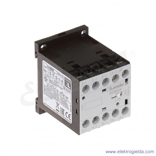 Stycznik BG0910A400 400VAC Ith 20A AC3/400V  4KW, 1NO