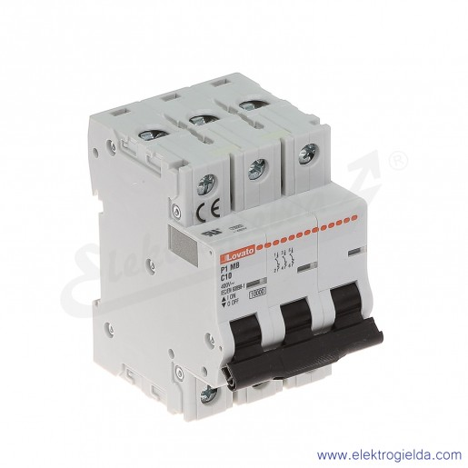 Wyłącznik nadprądowy P1MB3PC10 C10A 3P 10kA AC