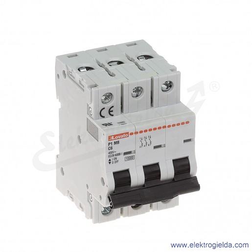Wyłącznik nadprądowy P1MB3PC06 C6A 3P 10kA AC