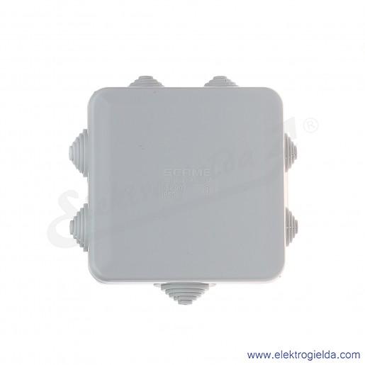 Puszka instalacyjna 680.003 80x80x40 mm z dławnicami, IP55, montaż natynkowy