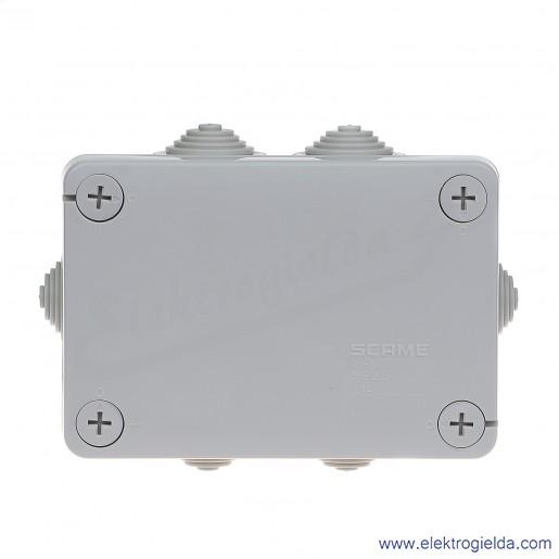 Puszka instalacyjna 689.005 120x80x50 mm z dławnicami, IP55 montaż natynkowy