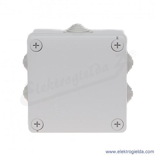 Puszka instalacyjna 689.004 100x100x50 mm z dławnicami, IP55 montaż natynkowy