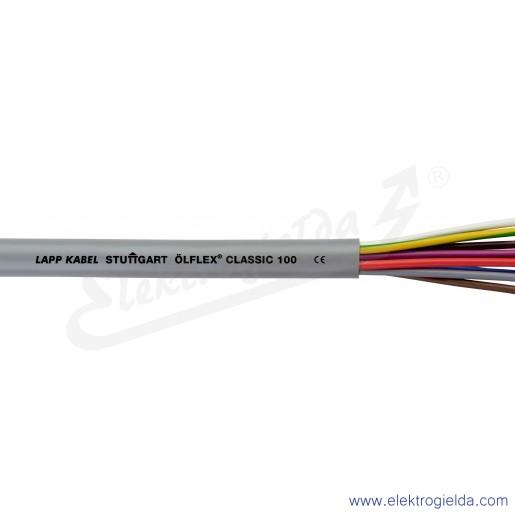 18G0,75mm2 ÖLFLEX® CLASSIC 110CY Black Czarny przewód ekranowany przyłączeniowy zasilający i sterowniczy do użytku na zewnątrz