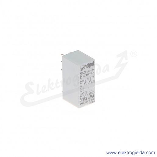 Przekaźnik miniaturowy RM84-2012-35-1048 2P 48VDC do gniazd i obwodów drukowanych