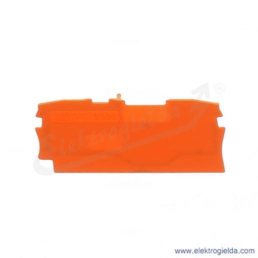 Ścianka końcowa 2000-1292 pomarańczowa do złączek 2000-120x