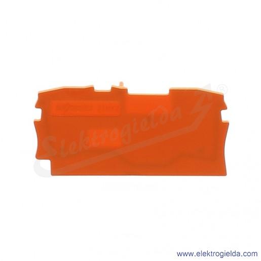 Ścianka końcowa 2002-1292 pomarańczowa do złączek 2002-120x i 2001-120x
