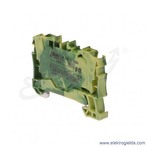 Złączka sprężynowa  2004-1207 4mm2 2-przewodowa,  ochronna żółto-zielona PE TopJob S