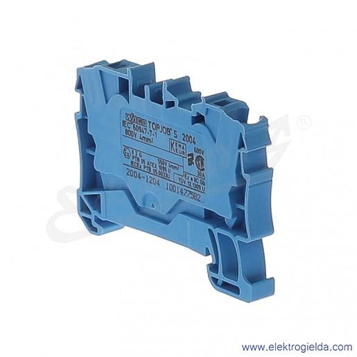 Złączka sprężynowa  2004-1204 4mm2 2-przewodowa,  niebieski TopJob S
