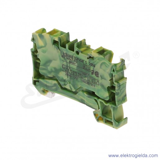 Złączka sprężynowa  2006-1207 6mm2 2-przewodowa,  ochronna żółto-zielona PE TopJob S