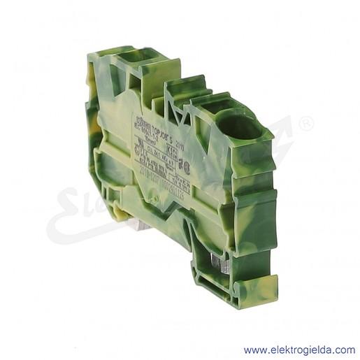 Złączka sprężynowa  2010-1207 10mm2 2-przewodowa, ochronna żółto-zielona PE TopJob S