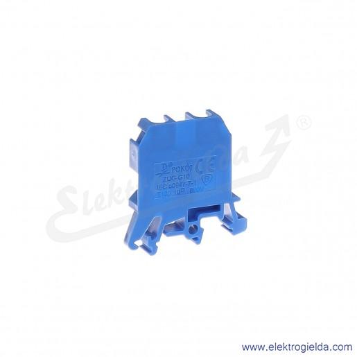ZUG G 10  Złączka niebieska jednotorowa gwintowa