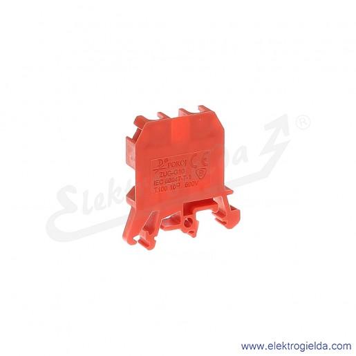 ZUG G 10  Złączka czerwona jednotorowa gwintowa