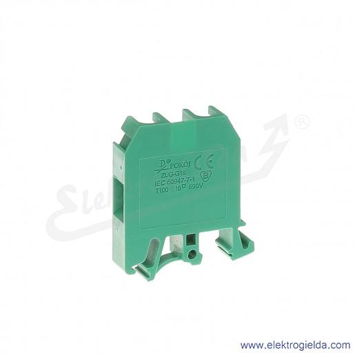 ZUG G 16  Złączka zielona jednotorowa gwintowa