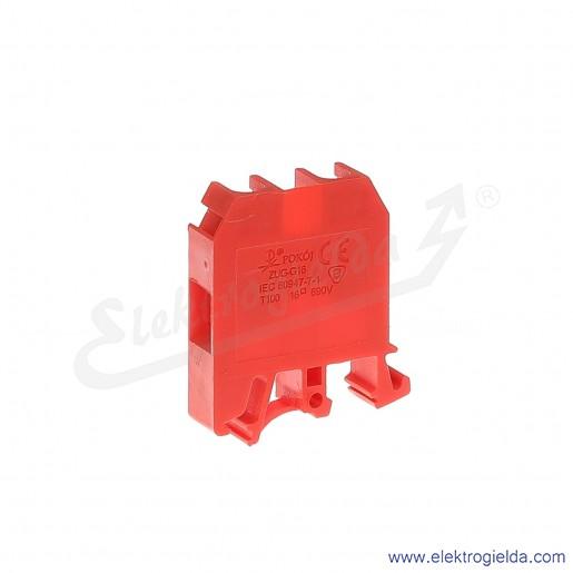 ZUG G 16  Złączka czerwona jednotorowa gwintowa