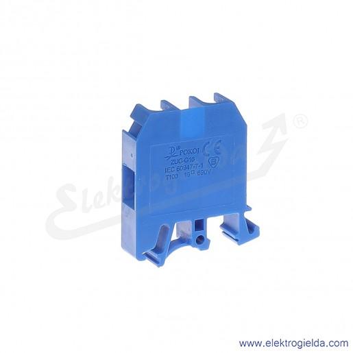 ZUG G 16  Złączka niebieska jednotorowa gwintowa