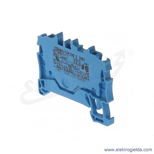 Złączka sprężynowa  2001-1204 1,5mm2 2-przewodowa,  niebieska TopJob S