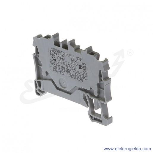 Złączka sprężynowa  2001-1201 1,5mm2 2-przewodowa,  szara TopJob S