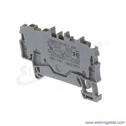 Złączka sprężynowa  2001-1301 1,5mm2 3-przewodowa,  szara TopJob S