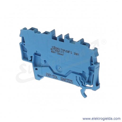 Złączka sprężynowa  2001-1304 1,5mm2 3-przewodowa,  niebieska TopJob S