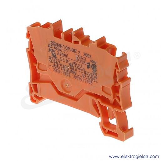 Złączka sprężynowa  2002-1202 2,5mm2 2-przewodowa,  pomarańczowa TopJob S