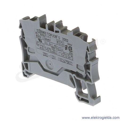Złączka sprężynowa  2002-1201 2,5mm2 2-przewodowa,  szara TopJob S