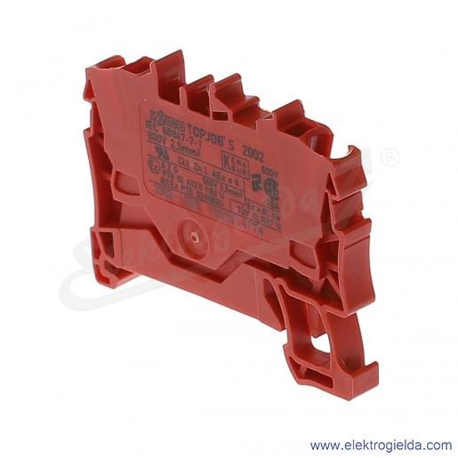 Złączka sprężynowa  2002-1203 2,5mm2 2-przewodowa,  czerwona TopJob S