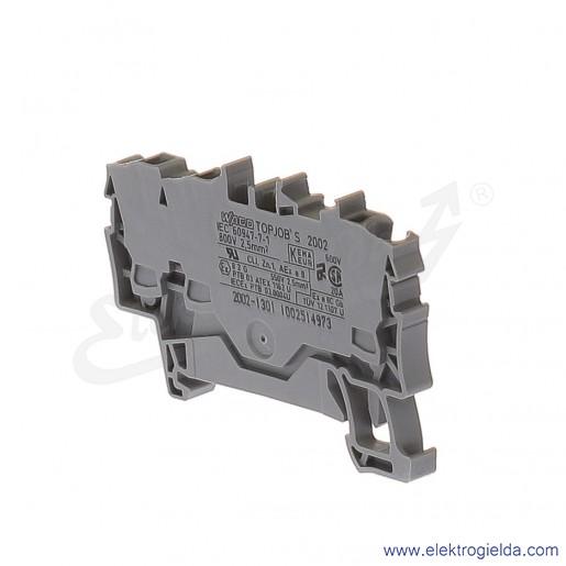 Złączka sprężynowa  2002-1301 2,5mm2 3-przewodowa,  szara TopJob S