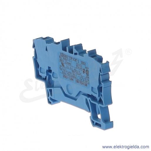 Złączka sprężynowa  2002-1304 2,5mm2 3-przewodowa, niebieska TopJob S