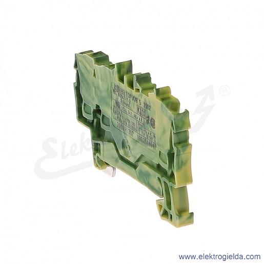 Złączka sprężynowa  2002-1307 2,5mm2 3-przewodowa, ochronna żółto-zielona PE TopJob S